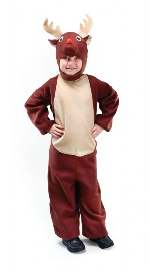 Childs Reindeer Toddler Costume Christmas Animal Festive Fancy Dress Outfit